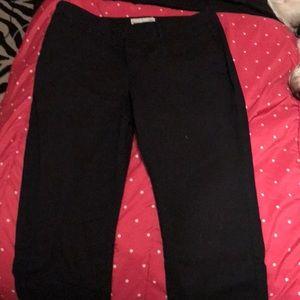 Black cropped slacks